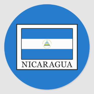 Nicaragua Classic Round Sticker