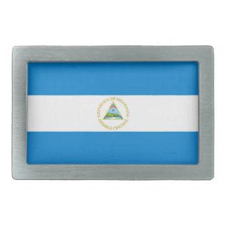 nicaragua country flag belt buckle