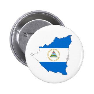 nicaragua country flag map shape symbol 6 cm round badge