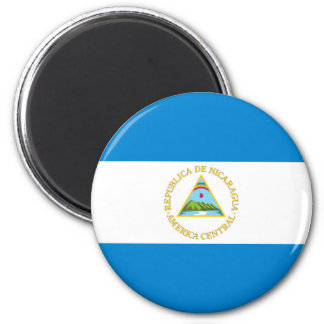 nicaragua country flag nation symbol 6 cm round magnet