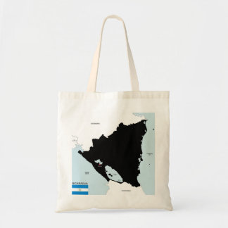 nicaragua country political map flag bags