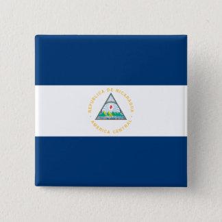Nicaragua Flag 15 Cm Square Badge