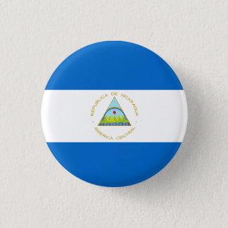 Nicaragua Flag 3 Cm Round Badge