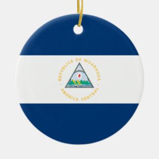 Nicaragua Flag Ceramic Ornament