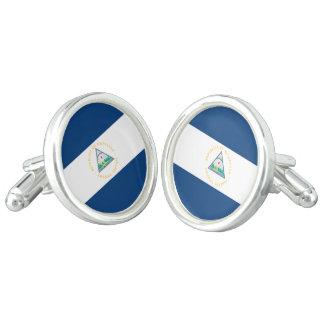 Nicaragua Flag Cufflinks