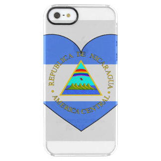 Nicaragua Flag Heart Clear iPhone SE/5/5s Case