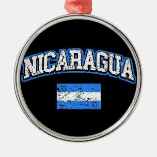 Nicaragua Flag Metal Ornament