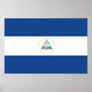 Nicaragua Flag Poster