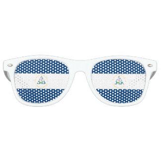 Nicaragua Flag Retro Sunglasses