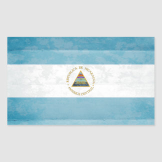 Nicaragua Flag Stickers Rectangle