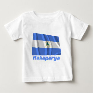 Nicaragua Flag with name in Russian Baby T-Shirt