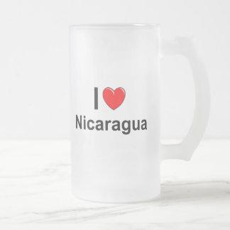 Nicaragua Frosted Glass Beer Mug