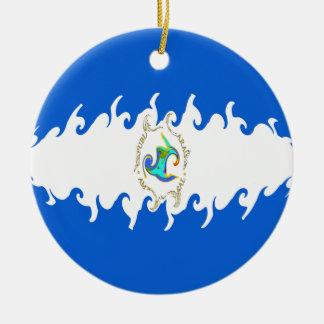 Nicaragua Gnarly Flag Ornaments