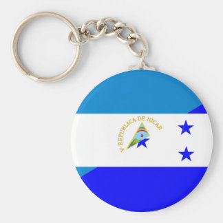 nicaragua honduras flag country half flag symbol basic round button key ring