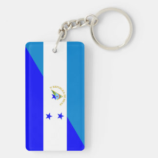 nicaragua honduras flag country half flag symbol Double-Sided rectangular acrylic key ring