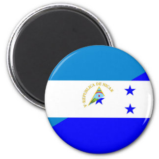 nicaragua honduras flag country half flag symbol magnet