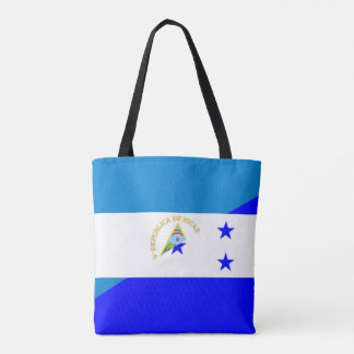 nicaragua honduras flag country half flag symbol tote bag