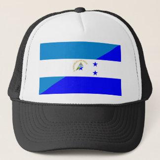 nicaragua honduras flag country half flag symbol trucker hat