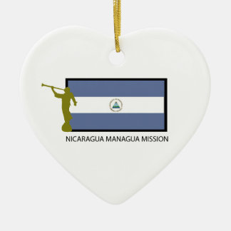 NICARAGUA MANAGUA MISSION LDS CTR CERAMIC HEART DECORATION