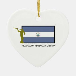 NICARAGUA MANAGUA MISSION LDS CTR CERAMIC ORNAMENT