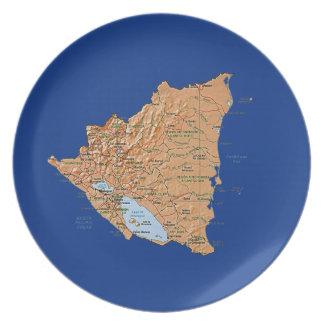 Nicaragua Map Plate