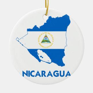 NICARAGUA MAP ROUND CERAMIC DECORATION