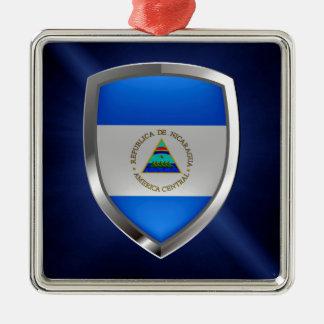 Nicaragua Metallic Emblem Metal Ornament