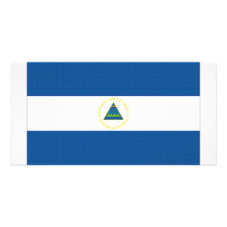 Nicaragua National Flag Personalized Photo Card