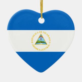 Nicaragua – Nicaraguan Flag Ceramic Ornament
