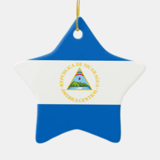 Nicaragua – Nicaraguan Flag Ceramic Star Decoration