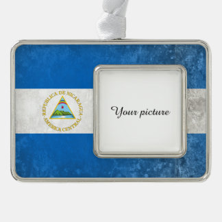 Nicaragua Silver Plated Framed Ornament