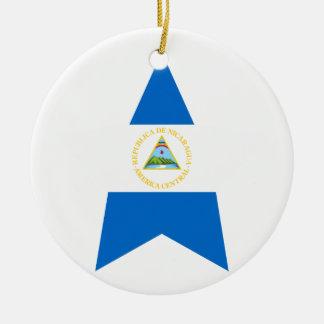 Nicaragua Star Round Ceramic Decoration