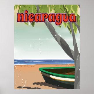 Nicaragua  vintage travel poster. poster