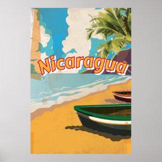 Nicaragua Vintage vacation Poster