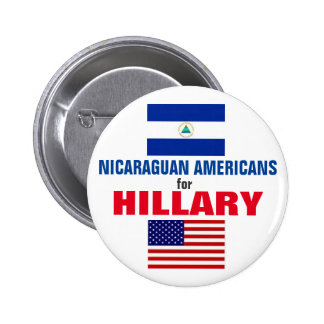Nicaraguan Americans for Hillary 2016 6 Cm Round Badge