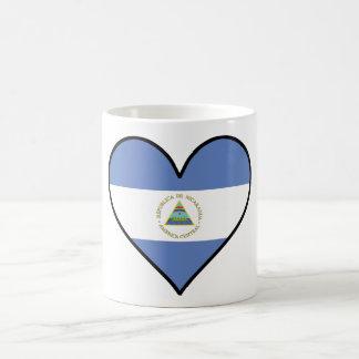 Nicaraguan Flag Heart Coffee Mug
