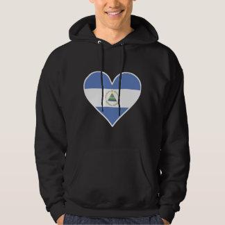 Nicaraguan Flag Heart Hoodie