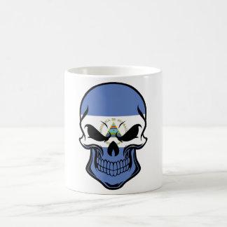 Nicaraguan Flag Skull Coffee Mug