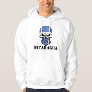 Nicaraguan Flag Skull Nicaragua Hoodie