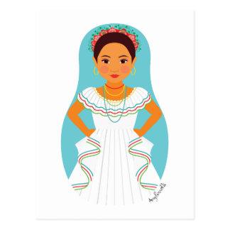 Nicaraguan Matryoshka Postcard