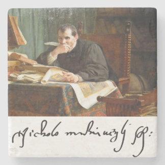 Niccolò Machiavelli in his study, by Stephano Ussi Stone Beverage Coaster