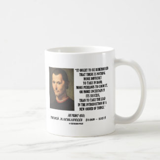 Niccolo Machiavelli New Order Of Things Quote Mugs