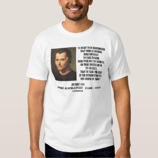 Niccolo Machiavelli New Order Of Things Quote Tshirt