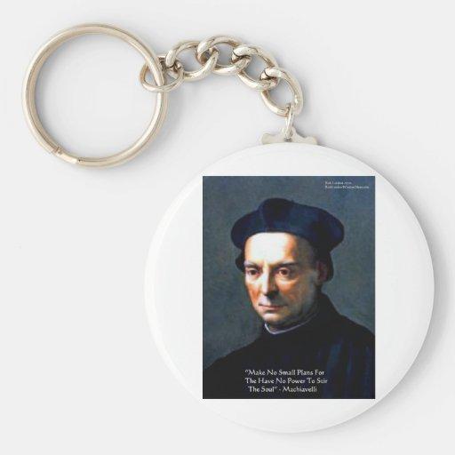 """Niccolo Machiavelli """"Power"""" Wisdom Quote Gifts Keychains"""
