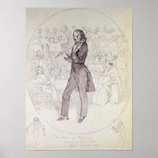 Niccolo Paganini , violinist Poster