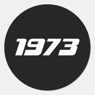 Nice 1974 Print Classic Round Sticker