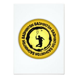 Nice Badminton Seal 13 Cm X 18 Cm Invitation Card