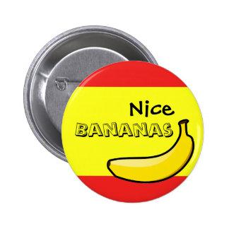 Nice Bananas 6 Cm Round Badge