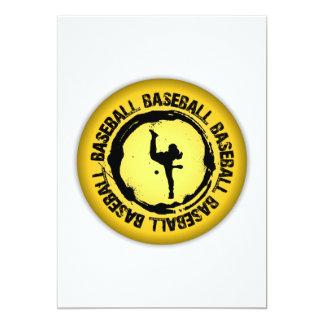 Nice Baseball Seal 13 Cm X 18 Cm Invitation Card