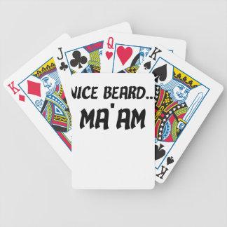 Nice Beard Ma'am Bicycle Playing Cards